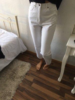 Pantalón de tubo blanco
