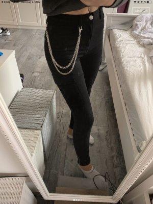 Hosen Kette Jeans Schmuck Accessoire silber NEU