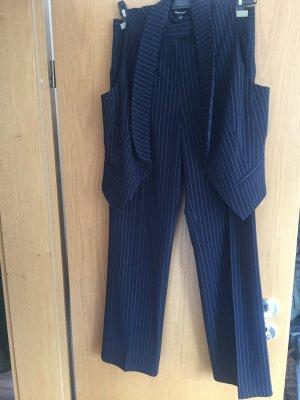 Pinstripe Suit dark blue