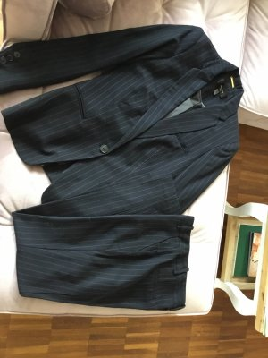 Mango Suit Traje de negocios azul oscuro-gris claro