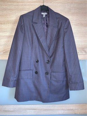 Asos Pinstripe Suit grey violet