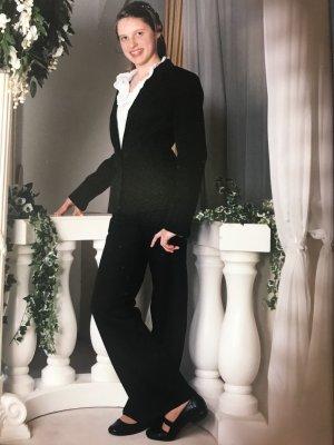 Tailleur-pantalon noir-rouge
