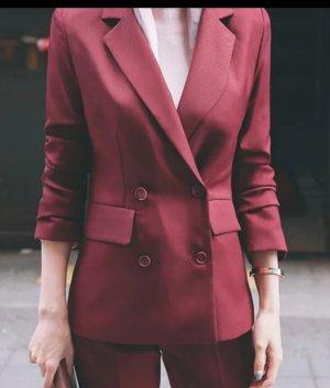 New light Tailleur-pantalon rouge foncé
