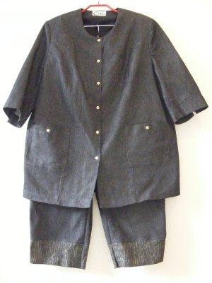 Trouser Suit dark blue cotton