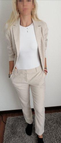 Hallhuber Traje de pantalón blanco-beige