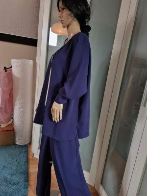 Fair Lady Trouser Suit dark blue-brown violet polyester