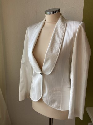 Belounged Pinstripe Suit cream