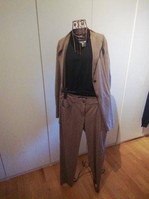 Gerry Weber Lange blazer grijs-bruin