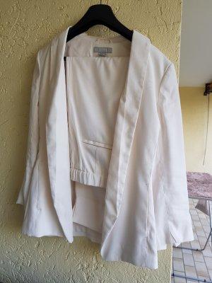 H&M Tailleur-pantalon blanc cassé-crème