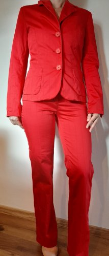 s.Oliver Trouser Suit red cotton