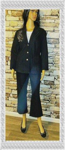 Laura Kent Tailleur pantalone blu scuro-blu Cotone