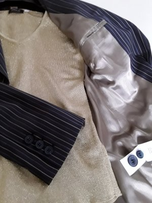 H&M Pinstripe Suit multicolored wool