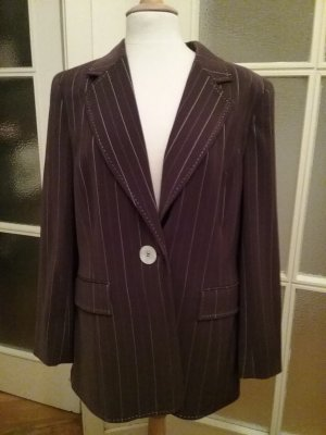 Madeleine thompson Pinstripe Suit brown-white polyester