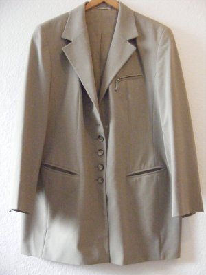 Trouser Suit green grey polyester