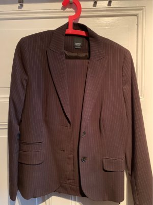 Esprit Pinstripe Suit brown-light grey