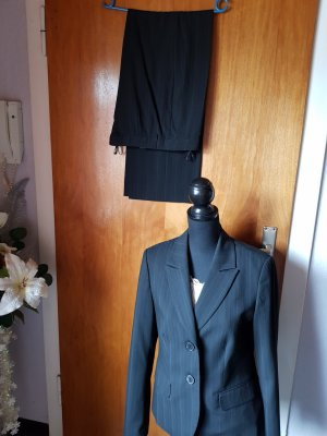 More & More Pinstripe Suit black-grey