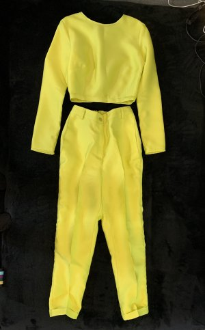 Trouser Suit neon yellow-lime yellow