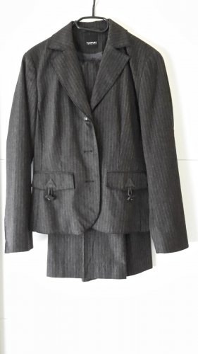 Taifun Collection Garnitur biznesowy czarny-srebrny Wełna