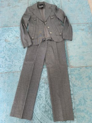 Apanage Trouser Suit grey brown-oatmeal