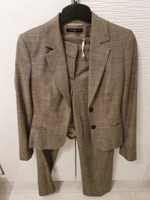 Comma Trouser Suit light brown-grey brown