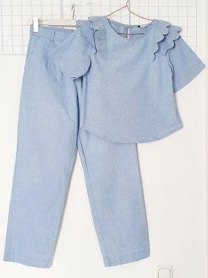Max & Co. Traje de pantalón azul celeste Lino