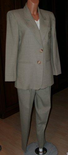 Trouser Suit grey brown wool