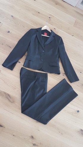 s.Oliver Pinstripe Suit black