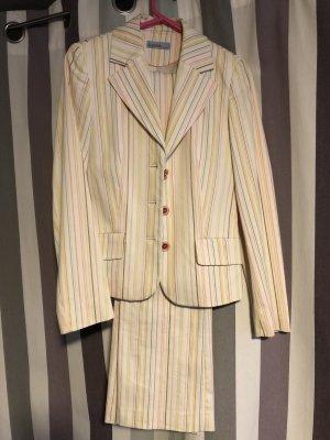 Suzanna Pinstripe Suit white