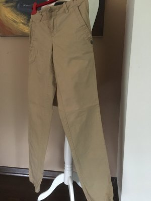 Aeronautica Militare Chinos sand brown cotton