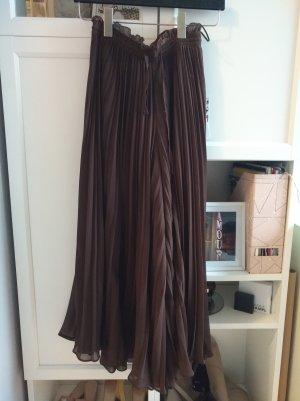 Zara Falda pantalón marrón-marrón oscuro