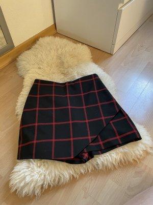 Zara Falda pantalón negro-rojo