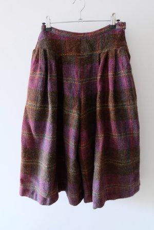 Vintage Culotte Skirt multicolored wool