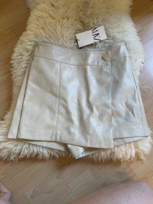 Zara Falda pantalón crema-beige claro