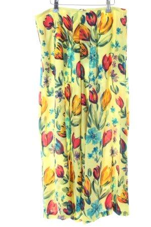 Falda pantalón estampado floral estilo extravagante