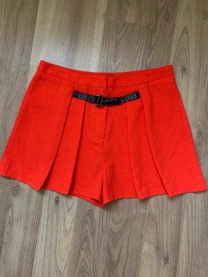 Falda pantalón naranja neón