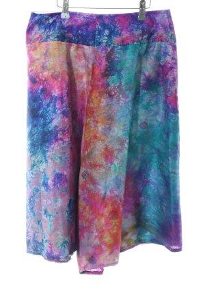 Falda pantalón estampado con puntos de colores estilo extravagante