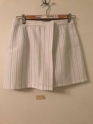 Falda pantalón blanco-azul oscuro