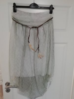 Made in Italy Falda pantalón color plata-gris claro