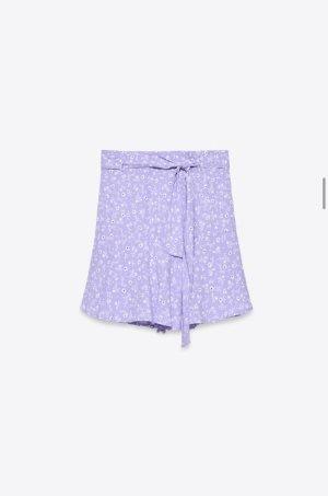 Zara Jupes-culottes violet-blanc