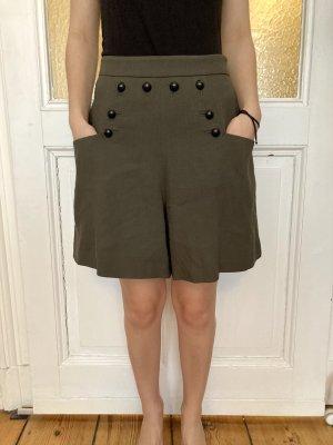 Set Falda pantalón gris verdoso-caqui Viscosa