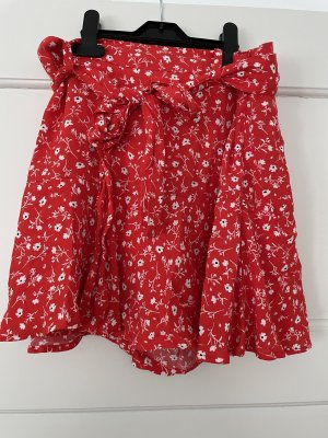 Zara Jupes-culottes blanc-rouge