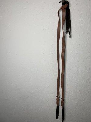 Bretelles marron clair-noir