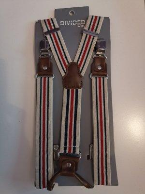 H&M Suspenders red-blue