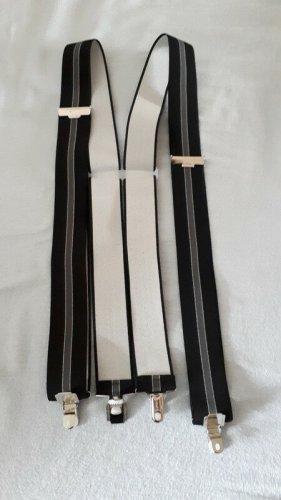 Bretelles noir-gris