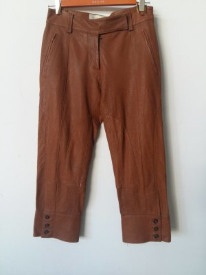 Leather Trousers cognac-coloured leather