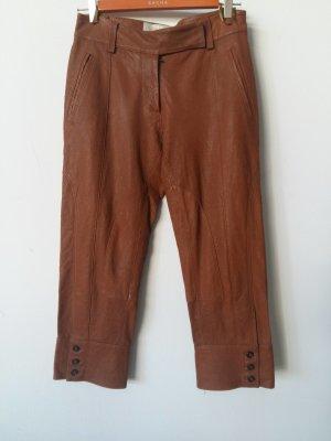 Pantalón de cuero coñac Cuero