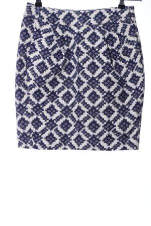 Hoss Bleistiftrock blau-weiß Allover-Druck Casual-Look