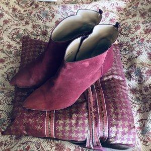 Hoss Intropia Ankle Boots Wildleder Bordeauxrot 40