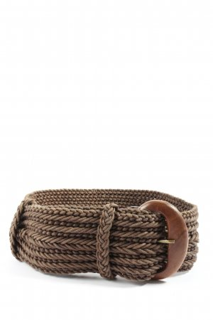 Hoss Intropia Braided Belt brown cable stitch casual look