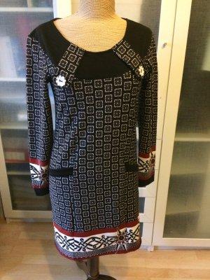 Hoss Intropia Sheath Dress black-white cotton